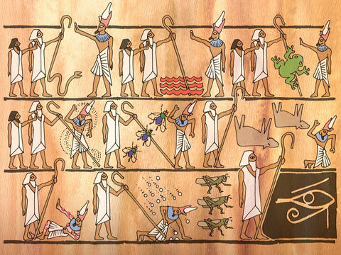 Pharaoh had a very hard heart. There were many more miracles of God that Moses and Aaron performed in hopes that Pharaoh would let the sons of Israel go. These are listed in Exodus 7 through 10. <br/>Now the Lord said to Moses, 'One more plague I will bring on Pharaoh and on Egypt; after that he will let you go from here...' Exodus 11:1a (NASB) – Slide 10