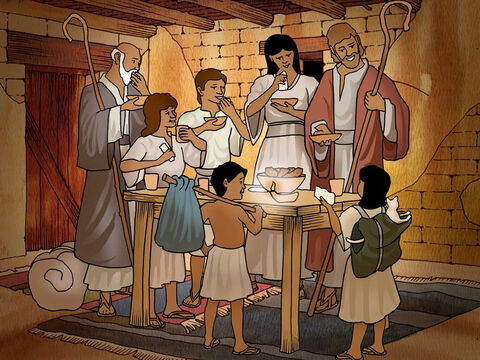 "'And when your children say to you, ""What does this rite mean to you?"" you shall say, ""It is a Passover sacrifice to the Lord who passed over the houses of the sons of Israel in Egypt when He smote the Egyptians, but spared our homes.""'<br/> And the people bowed low and worshiped. Exodus 12:26-27 (NASB) – Slide 14"