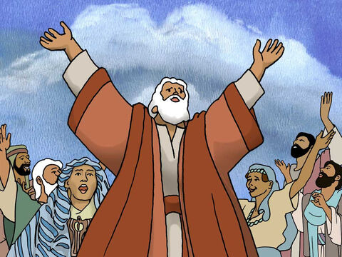 Then Moses and the sons of Israel sang a song of praise to the Lord. Exodus 15:1-18. – Slide 6