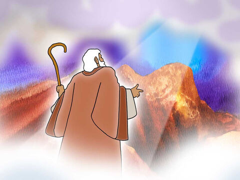 """Then the Lord spoke to Moses, 'Go down at once, for your people, whom you brought up from the land of Egypt, have corrupted themselves.' <br/>Moses turned and went down from the mountain with the two tablets of the testimony in his hand, ... The tablets were God's work, and the writing was God's writing engraved on the tablets."""" Exodus 32:7,15a,16 (NASB) – Slide 10"""