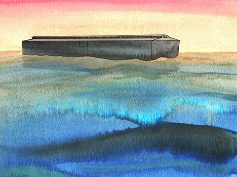 'Thus He blotted out every living thing that was upon the face of the land, ...and only Noah was left, together with those that were with him in the ark. The water prevailed upon the earth one hundred and fifty days.' Genesis 7:23-24 (NASB) – Slide 12