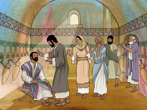 God told Ananias to go and lay hands on Saul and with God's power restore Saul's sight. At first Christians wanted to stay away from Saul. It took time for other Christians to accept Saul as a friend. (Acts 9:10-19). – Slide 3