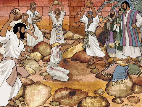 After all, many of them remembered how terrible Saul used to be. He had been responsible for the stoning of Stephen and the persecution of many Christians. (Acts 7:54-8:3). – Slide 4
