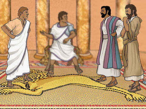 As Paul and Barnabas talked about Jesus Christ the evil Bar-Jesus tried to stop them. He rudely tried to disrupt Paul and Barnabas's conversation because he did not want his ruler Sergius Paulus to hear the Word of God and have faith in Jesus. – Slide 15