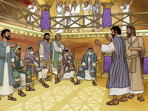 The next Sabbath nearly the whole city assembled. When the Jews saw the crowds coming to hear Paul and Barnabas, they were jealous, so they began contradicting them and accusing them of blasphemy. – Slide 20