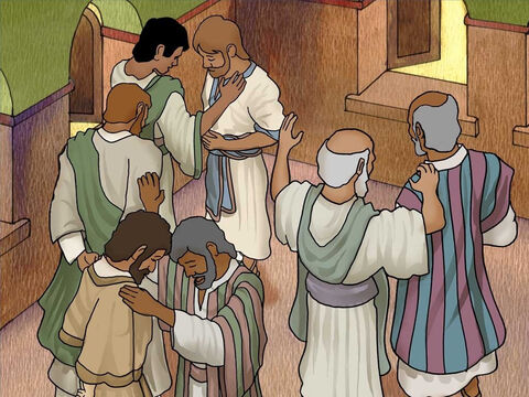 Paul gathered with other Christians in the city of Antioch. Together they prayed for God to direct them. Paul and Silas then joined together as a team to go on a second missionary journey back to Turkey. – Slide 1