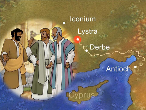 Paul looked forward to visiting the churches he had helped to start during his first missionary trip. Paul and Silas visited Derbe and then Lystra. On his last visit to Lystra Paul had a very rough time. On this trip he was greeted by a new young Christian called Timothy. – Slide 2