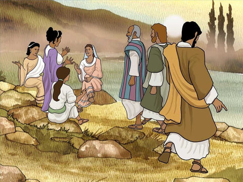 One morning Paul, Silas and Timothy went to pray by the river. They meet some woman praying on there. One woman called Lydia listened to the gospel spoken by Paul. God opened her heart and she believed in Jesus as her Lord and Saviour. – Slide 5
