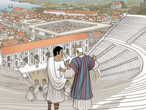 When Paul arrived in the large city of Ephesus he met Apollos who was a very learned man of the scriptures (Acts 18:24). Paul also met other people who loved God's word but they were missing something. – Slide 2