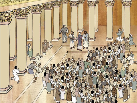When some Jews recognized Paul in the temple grounds they were furious. They stirred up a mob by telling people lies that Paul taught rebellion against the Jews and the laws given by Moses. Acts 21:27-29 – Slide 4