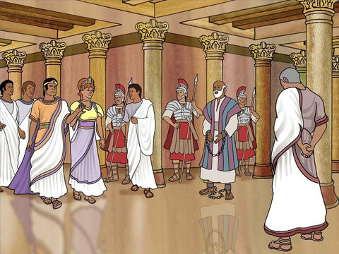 Finally the day came when King Agrippa came with his wife Bernice with great pomp. Now Paul was given a chance to share his testimony with the king and a large audience. King Agrippa almost believed the Gospel. Acts 25-26:28 – Slide 12
