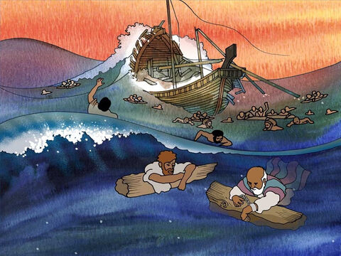 All the men on the ship either swam or used parts of the boat to safely get to the beach. This was not the first time that Paul was shipwrecked. Paul was used to suffering as he continued to share the gospel. – Slide 8