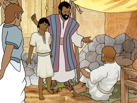 When they came to Lystra they saw a lame man that had never been able to walk. The lame man carefully listened to Paul telling him about Jesus. The Holy Spirit showed Paul that the man had faith to be made well. – Slide 4