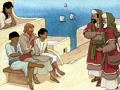 One day some men who collected the tax to maintain the temple in Jerusalem approached Peter. Peter was known as a close friend and disciple of Jesus. They wanted to test Jesus indirectly so they approached Peter instead. – Slide 2