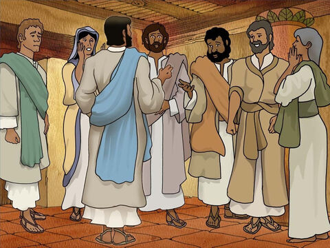 Eight days later Jesus again appeared with them and showed Thomas His wounded hands and side. Thomas said; 'My Lord and my God!' <br/>Jesus said to him, 'Because you have seen Me, have you believed? Blessed are they who did not see, and yet believe.' (John 20:26-29) – Slide 8