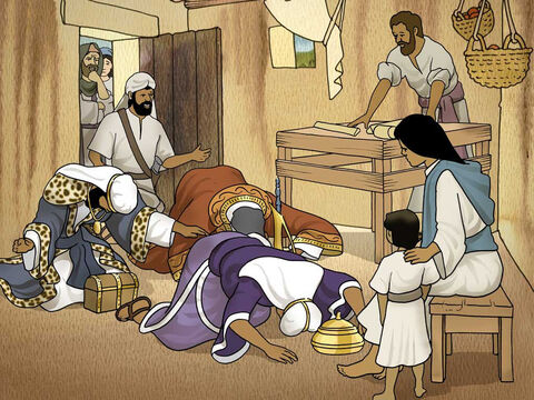 And after they came into the house, they saw the Child with His mother Mary; and they fell down and worshiped Him. Then they opened their treasures and presented to Him gifts of gold, frankincense, and myrrh. Matthew 2:11 (NASB) – Slide 6