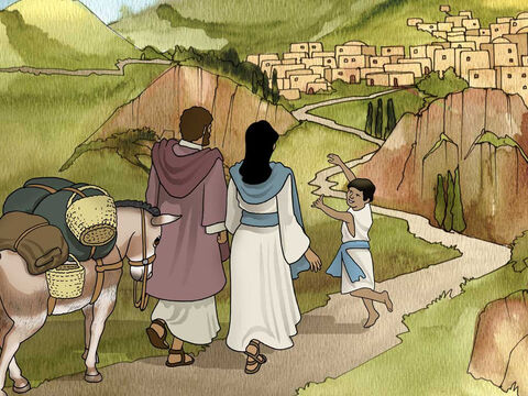 'But when he heard that Archelaus was reigning over Judea in place of his father Herod, he was afraid to go there. Then after being warned by God in a dream, he left for the regions of Galilee, and came and settled in a city called Nazareth.' Matthew 2:22-23a (NASB) – Slide 13