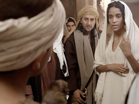 'Son, why have you treated us like this?' asked Mary. 'Joseph and I have been anxiously searching for you.' – Slide 12