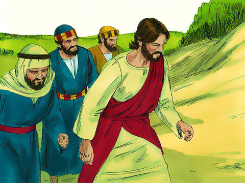 Jesus and His disciples were on the way to Jerusalem and were passing through the city of Jericho. – Slide 1