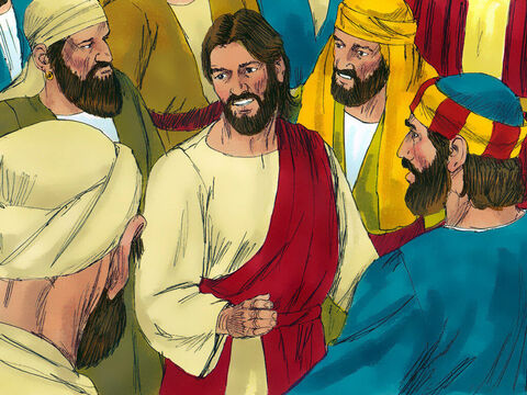 Jesus was in a large crowd of people, many of whom wanted to see Him. There was a man in Jericho, called Zacchaeus, the chief tax collector. He was very rich but tax collectors had a bad reputation for gaining money by corruption. – Slide 2