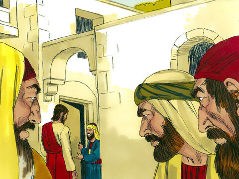 Zacchaeus was delighted. Teachers like Jesus usually avoided tax collectors as they had such a bad reputation. He warmly welcomed Jesus into his home. But the people grumbled, 'This man has gone as a guest to the home of a sinner!' – Slide 6