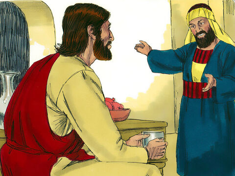 Zacchaeus stood up and told Jesus, 'Listen, I will give half my belongings to the poor, and if I have cheated anyone, I will pay back four times as much.' – Slide 7