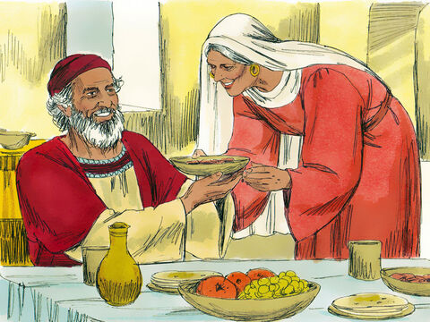 When Herod was king of Judea, there was a Jewish priest named Zechariah and his wife, Elizabeth. They had been unable to have children and were both very old. – Slide 1