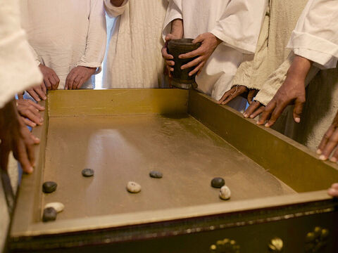 Once, when Zechariah's division of priests was on duty at the Temple, they cast lots to see who would go into the temple and burn incense in the inner sanctuary. – Slide 3